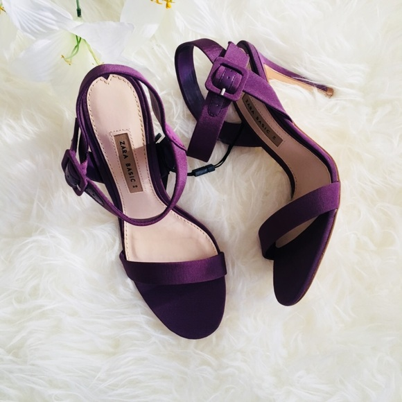 a76b79c08c8 ZARA Purple Strap High Heels Size 8
